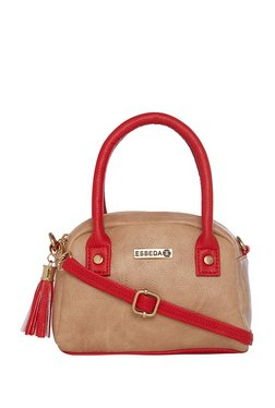 Esbeda Beige Distressed Handbag