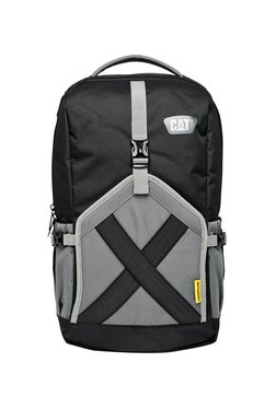 CAT The Factor Black & Grey Textured Polyester Laptop Backpack