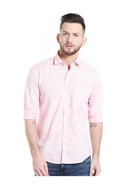Killer Pink Floral Print Slim Fit Shirt