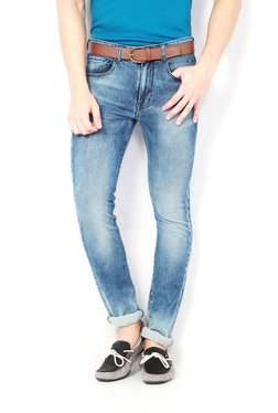 Van Heusen Blue Lightly Washed Mid Rise Jeans