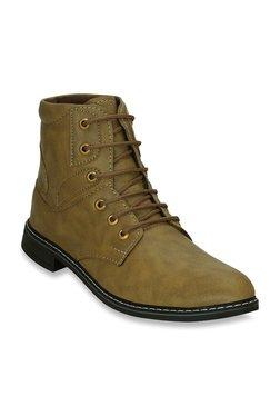 Get Glamr Court Beige Derby Boots