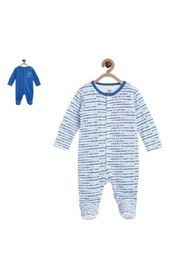 7128a6bb2e6 MINIKLUB Kids Royal Blue   White Sleepsuit (Pack of 2)