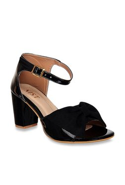 210da410e65 GNIST Black Ankle Strap Sandals