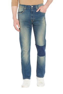 Lee Indigo Regular Fit Mid Rise Jeans