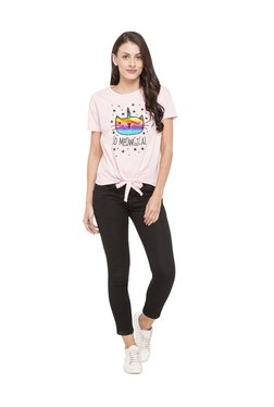 Globus Pink Printed Cotton Top