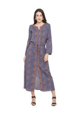 Globus Blue Paisley Print Viscose Dress