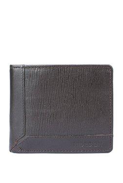 Hidesign 290-36 Dark Brown Textured RFID Bi-Fold Wallet