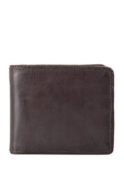 Hidesign 264 L103F Dark Brown Distressed RFID Bi-Fold Wallet