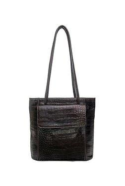 Hidesign Tovah 4310 Dark Brown Textured Leather Shoulder Bag