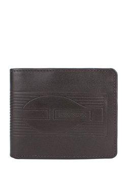 Hidesign 289-L107F Dark Brown Embossed RFID Bi-Fold Wallet
