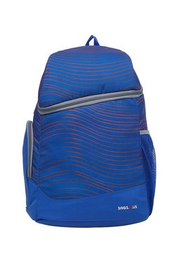 BagsRUs Traveller Royal Blue & Orange Striped Laptop Backpack