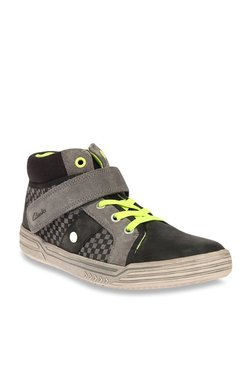 410730e7bd35d Clarks Kids Black   Grey Ankle High Sneakers