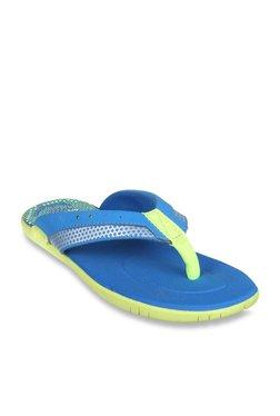 48e4bd4b1ecad Clarks Kids Blue   Lime Green Flip Flops