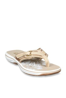 b455d842d46 Clarks Brinkley Mila Golden Sandals for women - Get stylish shoes ...