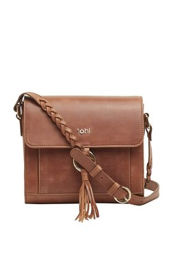 Tohl Tan Tassel Leather Messenger Bag