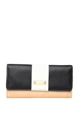 ToniQ Black & White Color Block Flap Wallet