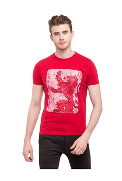 Game Of Thrones By Status Quo Red Cotton Lycra T-Shirt