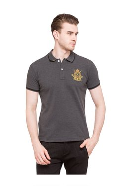 Status Quo Anthra Regular Fit Polo T-Shirt