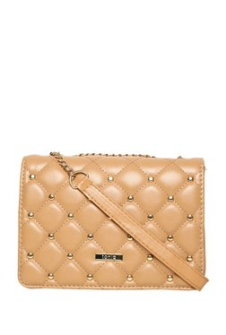 ToniQ Amira Beige Quilted Sling Bag