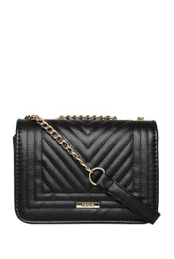 ToniQ Luvina Black Quilted Sling Bag