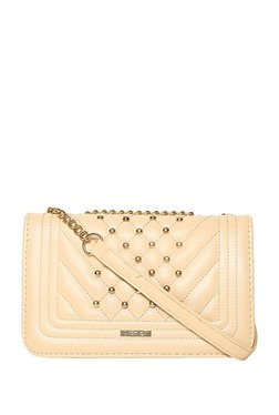 ToniQ Aeldra Nude Quilted Sling Bag