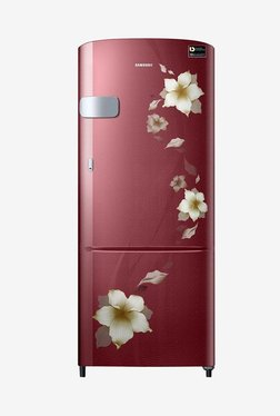 Samsung RR22M2Y2ZR2/NL 212 L INV 3 Star Direct Cool Single Door Refrigerator (Star Flower Red)