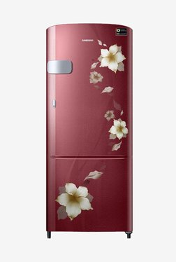 Samsung RR22N3Y2ZR2/HL 212 L INV 3 Star Direct Cool Single Door Refrigerator (Rose Mallow Red)