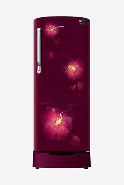 Samsung RR22M285ZR3/NL 212 L INV 3 Star Direct Cool Single Door Refrigerator (Rose Mallow Plum)