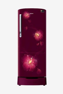 Samsung RR22N383ZR3/HL 212 L INV 3 Star Direct Cool Single Door Refrigerator (Rose Mallow Red)