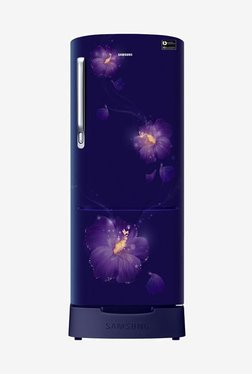 Samsung RR24M285ZU3/NL 230 L INV 3 Star Direct Cool Single Door Refrigerator (Rose Mallow Blue)