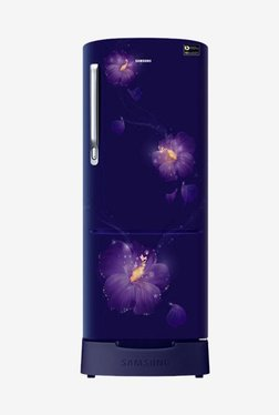 Samsung RR22N383ZU3/HL 212 L INV 3 Star Direct Cool Single Door Refrigerator (Rose Mallow Blue)