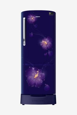 Samsung RR22M285ZU3/NL 212 L INV 3 Star Direct Cool Single Door Refrigerator (Rose Mallow Blue)