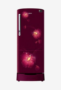 Samsung RR20N182ZR3/HL 192 L INV 3 Star Direct Cool Single Door Refrigerator (Rose Mallow Plum)