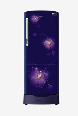 Samsung RR20N182ZU3/HL 192 L INV 3 Star Direct Cool Single Door Refrigerator (Rose Mallow Blue)