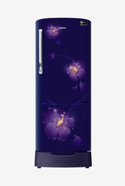 Samsung RR20N282ZU3/NL 192 L INV 3 Star Direct Cool Single Door Refrigerator (Rose Mallow Blue)
