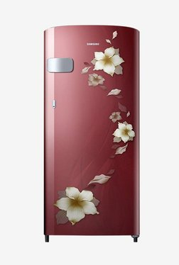 Samsung RR19N1Y12R2/HL 192 L 2 Star Direct Cool Single Door Refrigerator (Star Flower Red)
