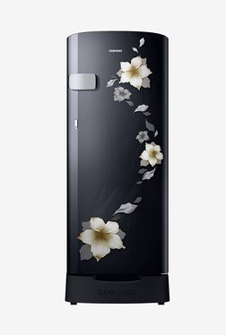 Samsung RR19N1Z22B2/HL 192 L 2 Star Direct Cool Single Door Refrigerator (Star Flower Black)