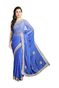 Pavecha's Blue Net Bollywood Saree