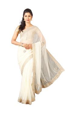 Pavecha's White Net Bollywood Saree