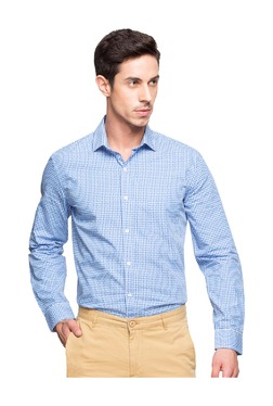 14d35b43a548 Cottonworld Blue Regular Fit Cotton Shirt
