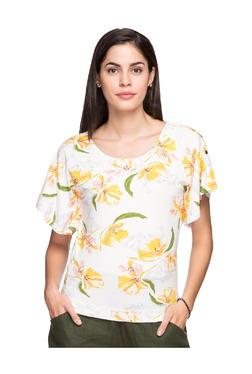 Cottonworld Yellow Floral Print T-Shirt