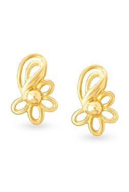 Tanishq Fl 18kt Gold Earrings
