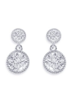 Peora Stunning Solitaire 925 Sterling Silver Earrings d726ee487477
