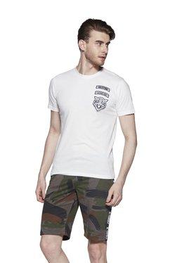 Zudio Off White Crewneck Slim Fit T-Shirt