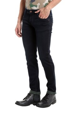 Integriti Navy Lightly Washed Mid Rise Cotton Jeans
