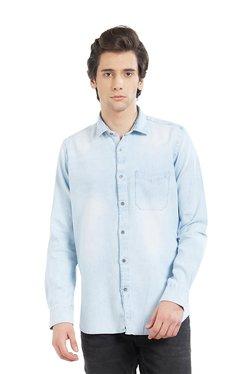 Lawman Light Blue Cotton Full Sleeves Shirt