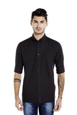 Lawman Black & Blue Slim Fit Checks Shirt