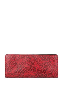 Holii Vega Scarlet Red Embossed Leather Bi- Fold Wallet