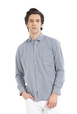 Lawman Dark Green & White Full Sleeves Checks Shirt