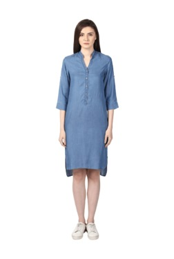 Park Avenue Blue Knee Length Dress